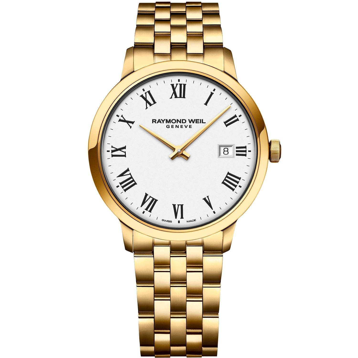 Toccata Men's Classic PVD Gold White Dial Quartz Watch 5485-P-00300