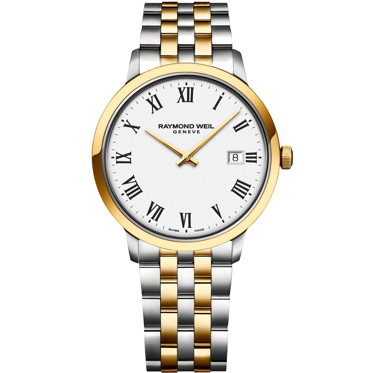 Toccata Men's Classic Two-tone White Dial Quartz Watch 5485-STP-00300