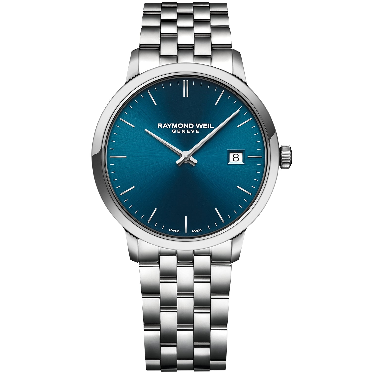 Toccata Men's Classic Steel Blue Dial Quartz Watch 5485-ST-50001