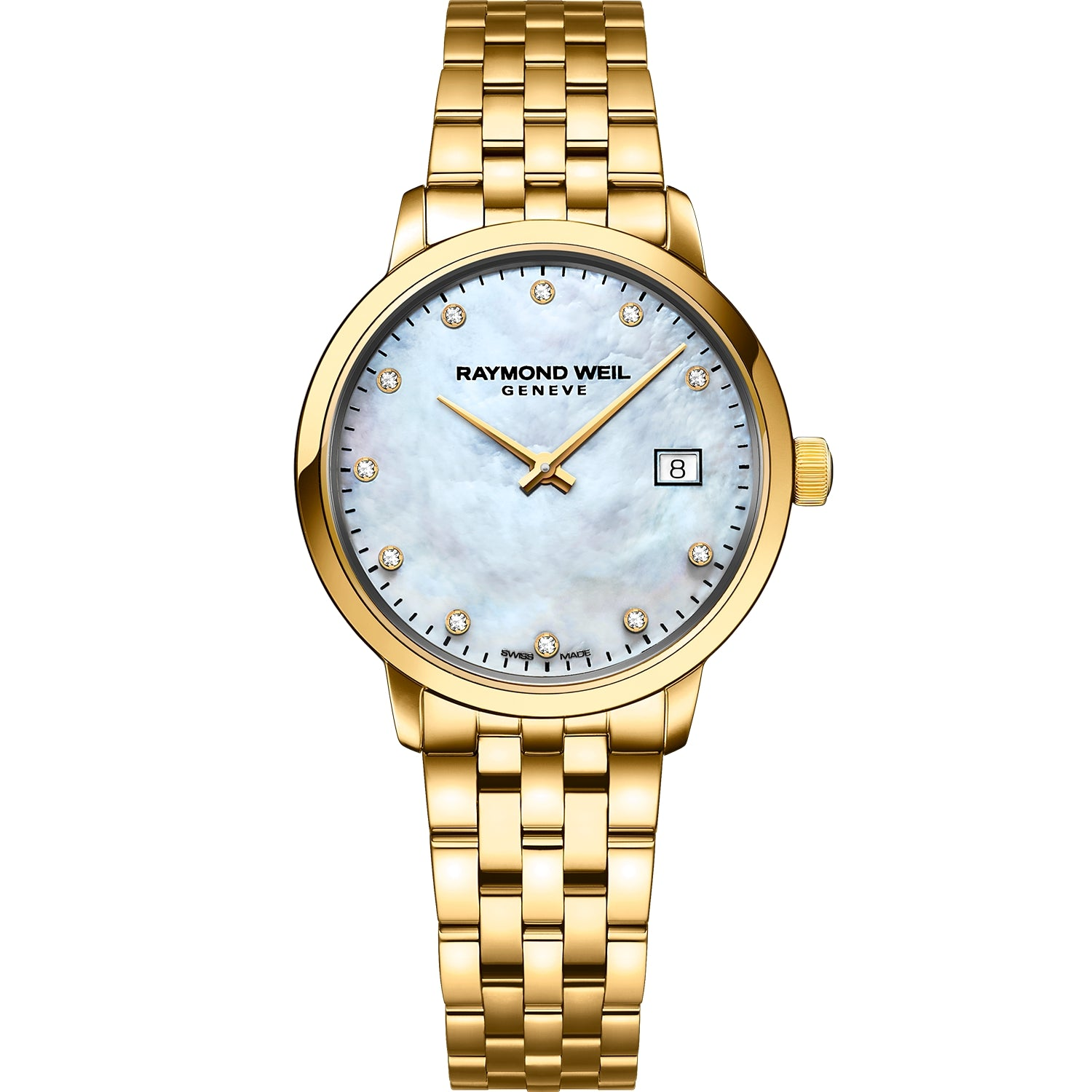 Toccata Ladies Classic Gold Diamond Steel Watch 5985-P-97081