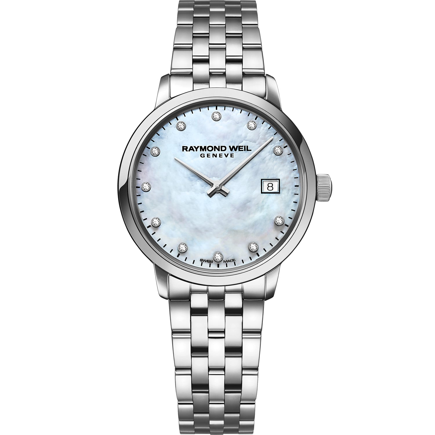 Toccata Ladies White Mother-of-Pearl Diamond Quartz Watch 5985-ST-97081
