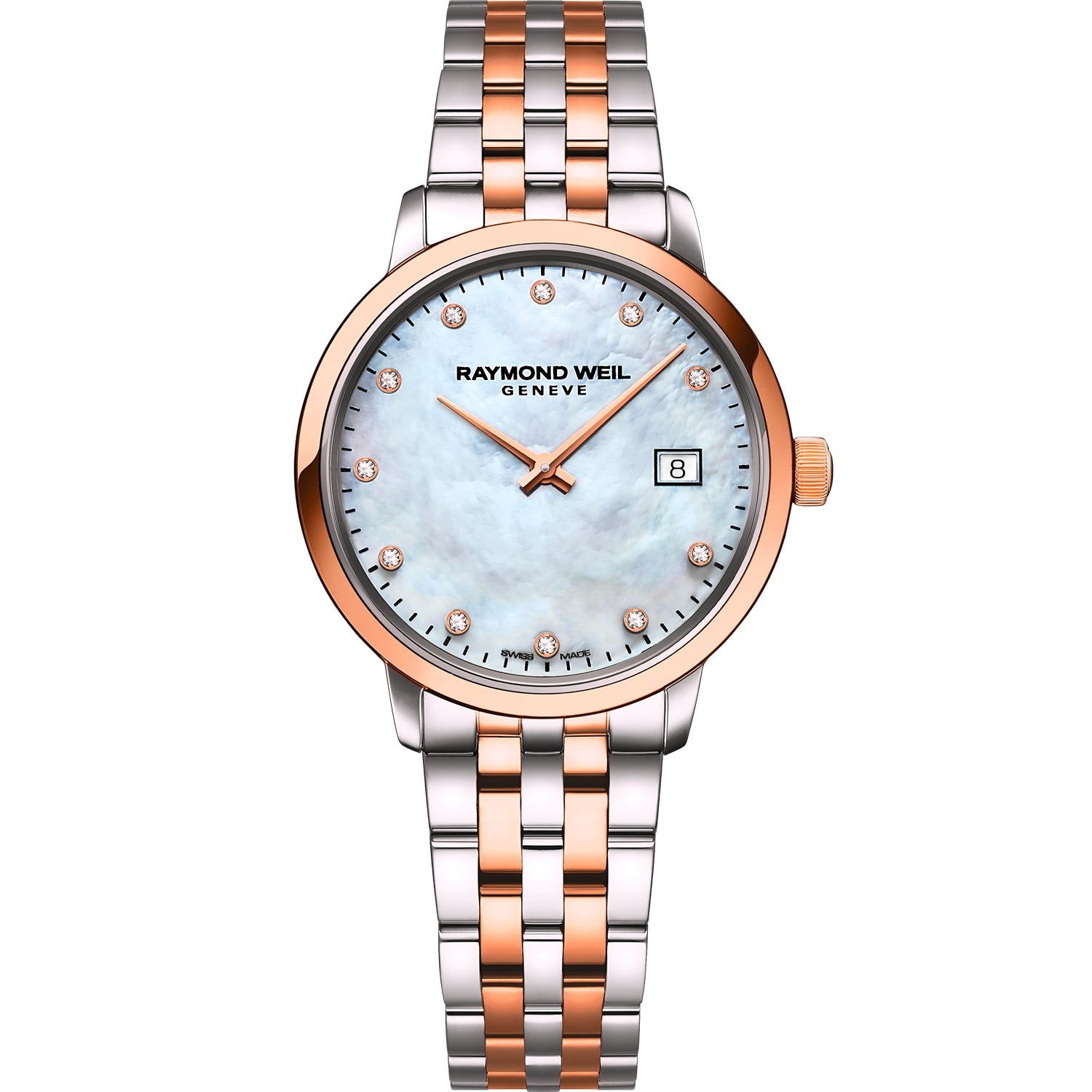 Toccata Ladies Two-tone Rose Gold 11 Diamond Quartz Watch 5985-SP5-97081