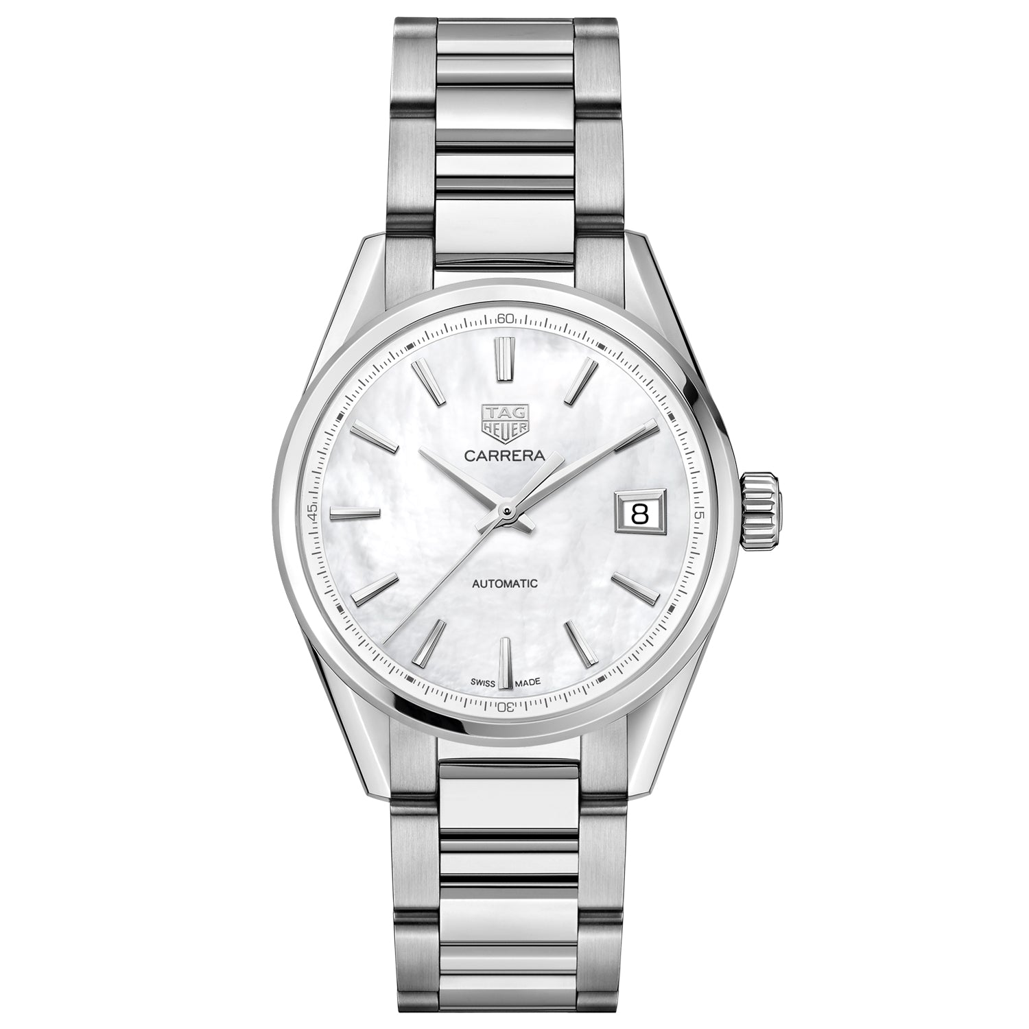 TAG Heuer Carrera Calibre 5 Automatic Ladies Mother of Pearl Steel Watch WBK2311.BA0652