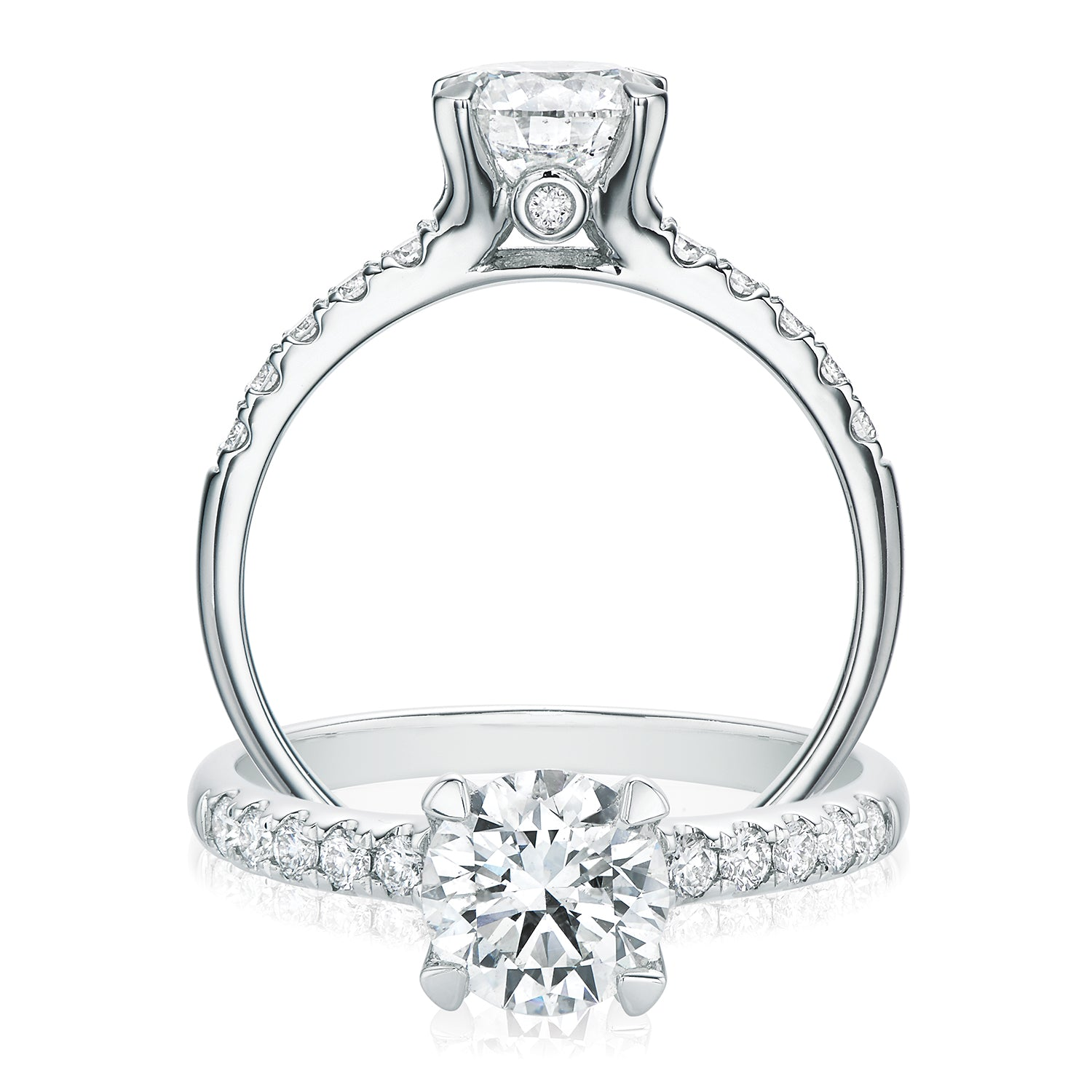 Promise 18ct White Gold Round Brilliant Cut with 1.25 CARAT tw of Diamonds