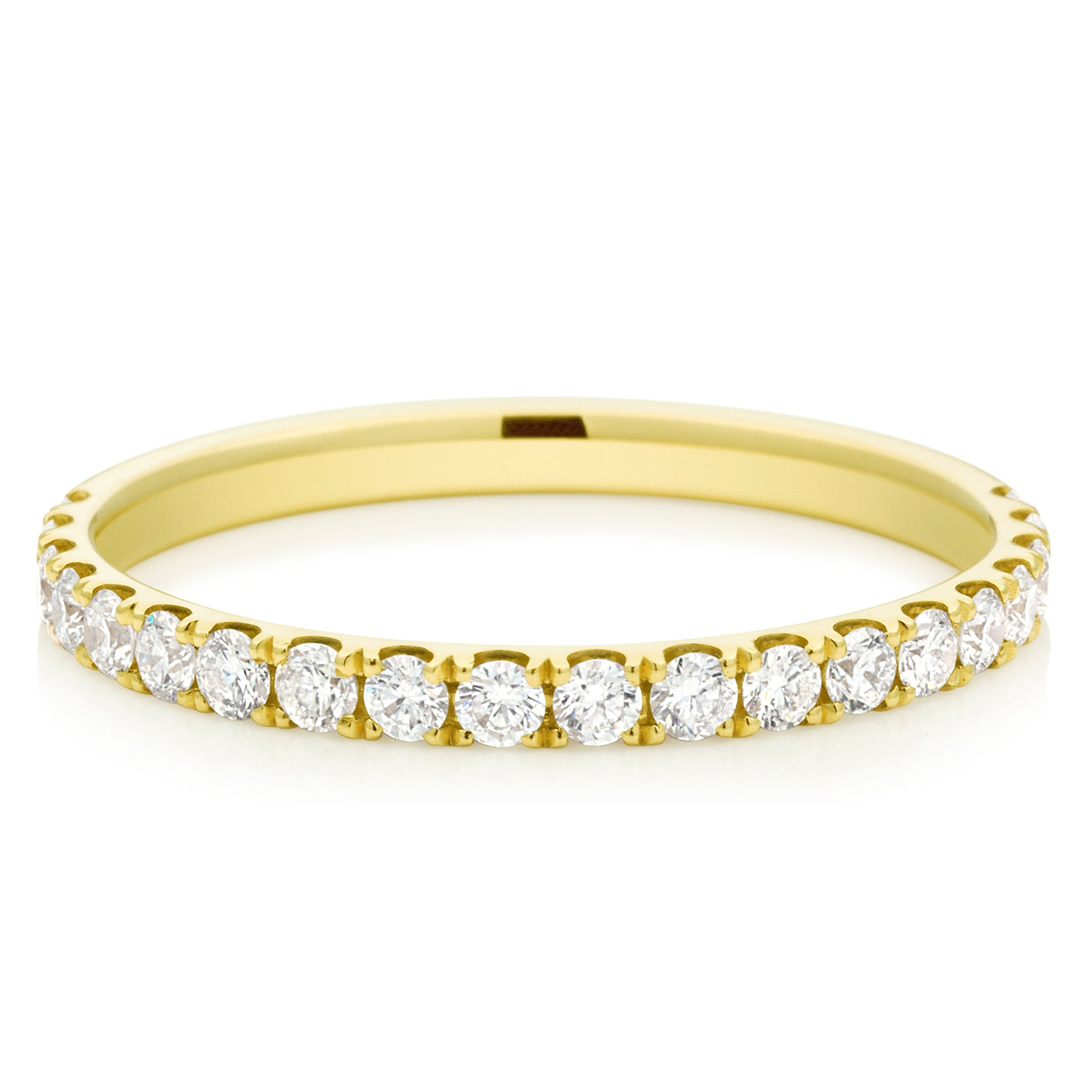 Promise Wedding Band 18ct Yellow Gold Round Brilliant Cut with 1/2 CARAT tw of Diamonds