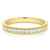 Promise Wedding Band 18ct Yellow Gold Round Brilliant Cut with 1/4 CARAT tw of Diamonds