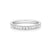 Promise Wedding Band 18ct White Gold Round Brilliant Cut with 1/4 CARAT tw of Diamonds