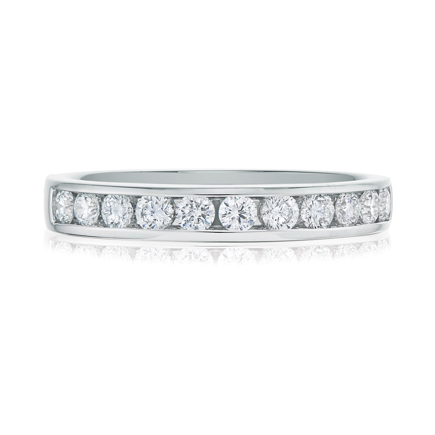 Promise Wedding Band 18ct White Gold Round Brilliant Cut with 1/2 CARAT tw of Diamonds