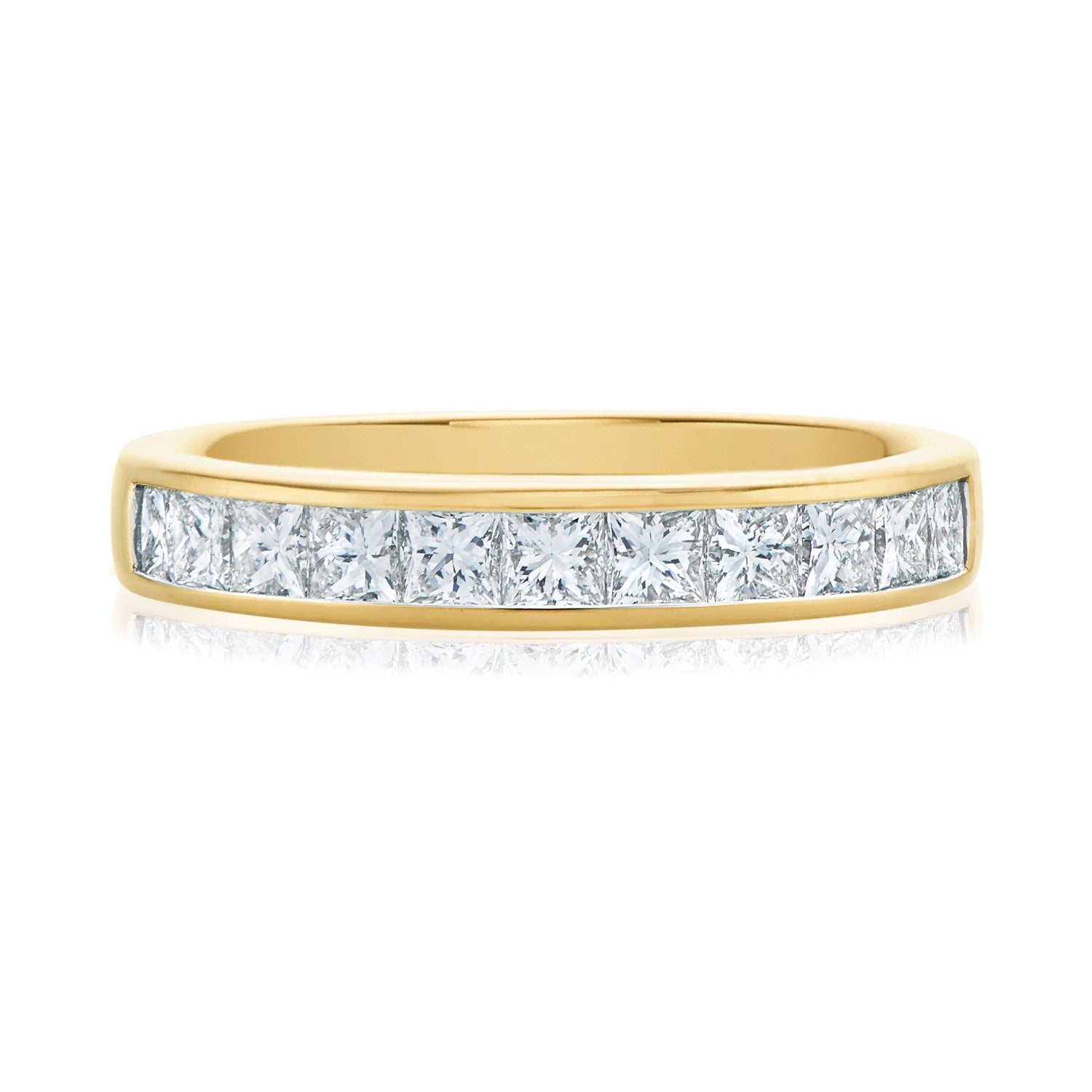 Promise Wedding Band 18ct Yellow Gold with 1 CARAT tw of Diamonds
