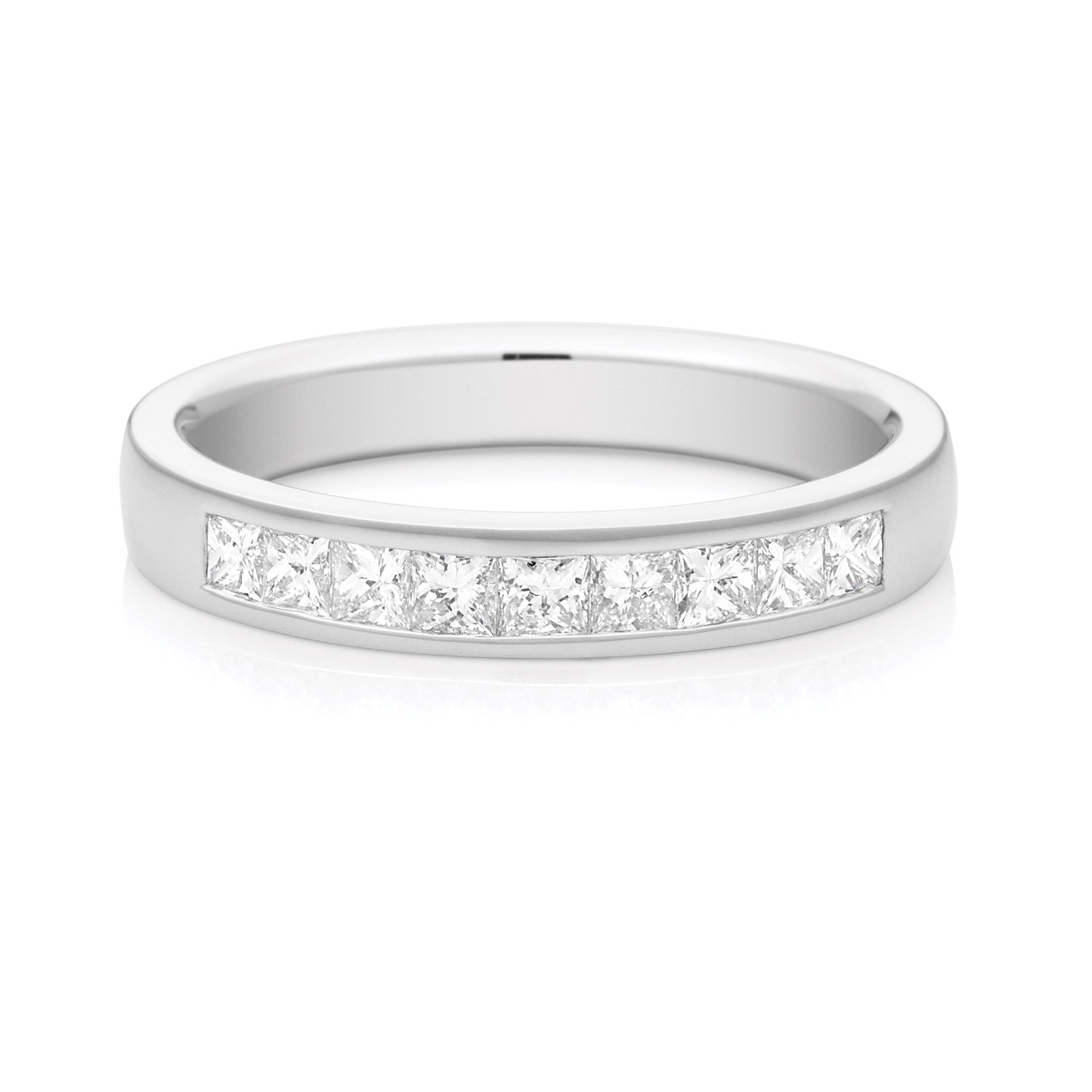 Promise Wedding Band 18ct White Gold with 1/2 CARAT tw of Diamonds