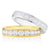 Promise Wedding Band 18ct White Gold Princess Cut with 1 CARAT tw of Diamonds