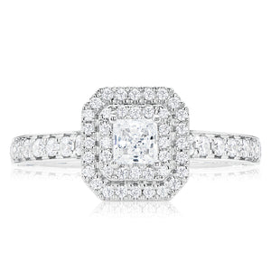 Vera Wang Love 18ct White Gold Princess Cut with 0.95 CARAT tw of Diamonds