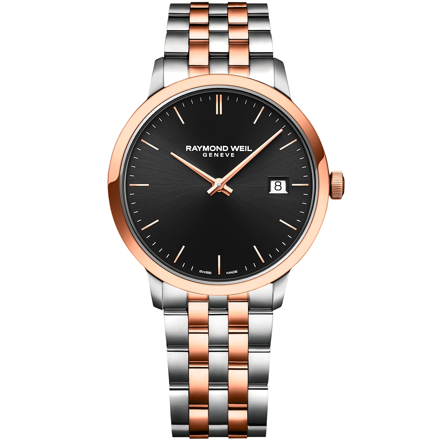Toccata Men's Classic Two-tone Black Dial Quartz Watch 5485-SP5-20001