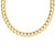 18ct Yellow Gold 9mm Bevelled Diamond Cut Curb in 55cm