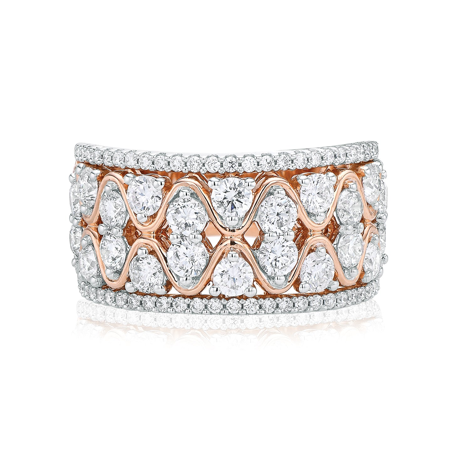 18ct Rose Gold Round Brilliant Cut with 2 CARAT tw of Diamonds