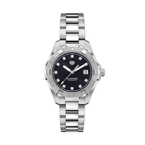 TAG Heuer Aquaracer Calibre 9 Automatic Ladies Black Steel Watch WBD2312.BA0740