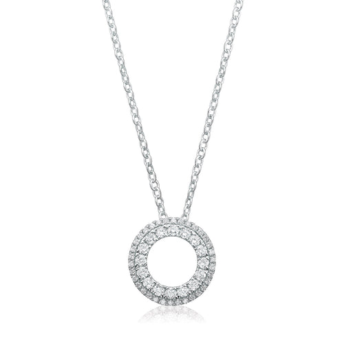 9ct White Gold Round Brilliant Cut with 1/2 CARAT tw of Diamonds