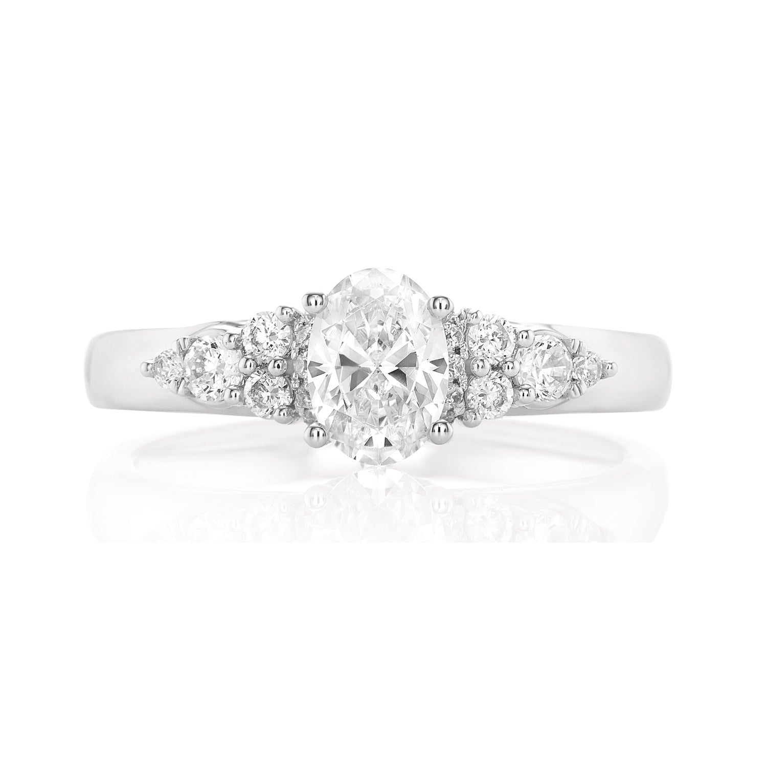 Promise 18ct White Gold Oval & Round Brilliant Cut with 1 CARAT tw of Diamonds