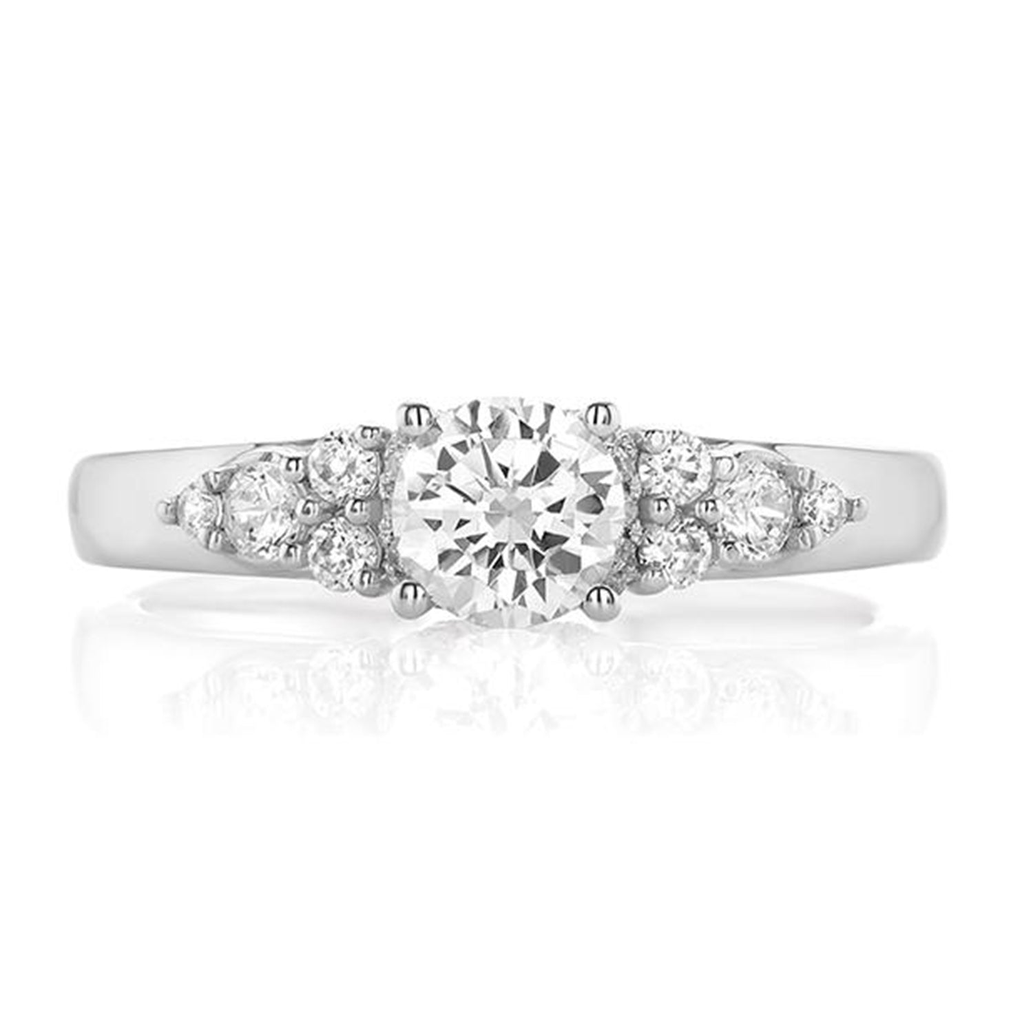 Promise 18ct White Gold Round Brilliant Cut with 1 CARAT tw of Diamonds