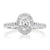 Halo 18ct White Gold Oval & Round Brilliant Cut with 1 CARAT tw of Diamonds