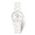Rado True S watch, white High-Tech ceramic bracelet with 4 diamonds