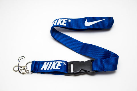 Nike Lanyard with Logo Key Chain Clip with Webbing Strap Quick Release Buckle (Blue & White) - Wish Bids