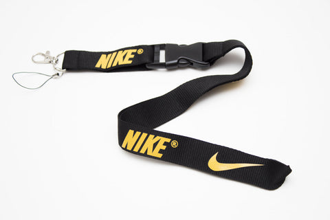 Nike Lanyard with Logo Key Chain Clip with Webbing Strap Quick Release Buckle (Black & Yellow) - Wish Bids