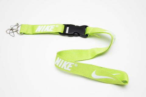 Nike Lanyard with Logo Key Chain Clip with Webbing Strap Quick Release Buckle (Lime Green & White) - Wish Bids