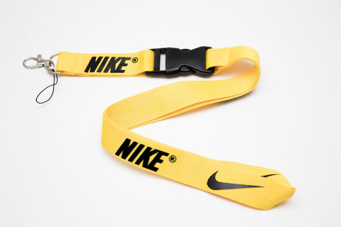 Nike Lanyard with Logo Key Chain Clip with Webbing Strap Quick Release Buckle (Yellow & Black) - Wish Bids