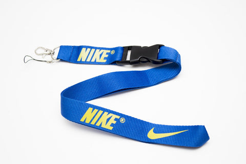 Nike Lanyard with Logo Key Chain Clip with Webbing Strap Quick Release Buckle (Blue & Lime Green) - Wish Bids