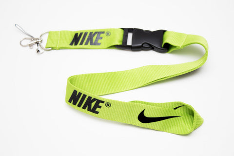Nike Lanyard with Logo Key Chain Clip with Webbing Strap Quick Release Buckle (Lime Green & Black) - Wish Bids