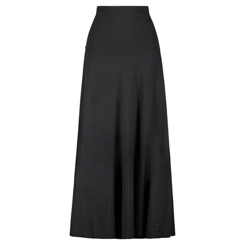 Midi Aline Skirt with Buttons