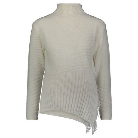 Rib Fringe Sweater