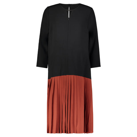 Colorblock Pleat Dress