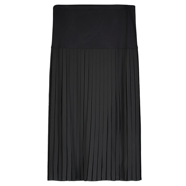 Chiffon Box Pleat Midi Skirt