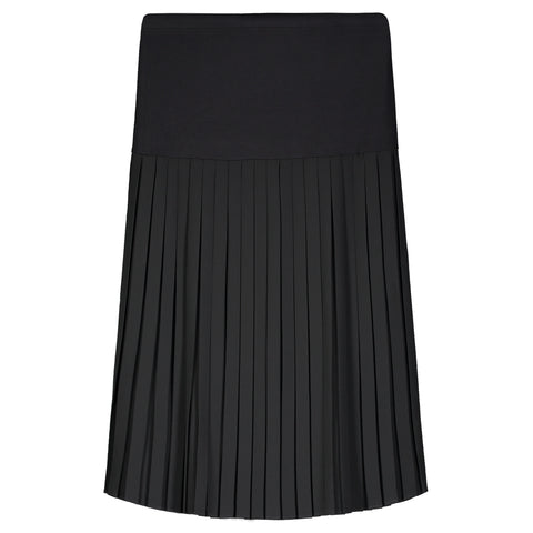 Chiffon Box Pleat Knee Length Skirt