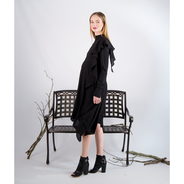 Crepe Asymmetic Dress