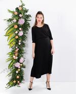 Load image into Gallery viewer, Chiffon Midi Dress With Pleats