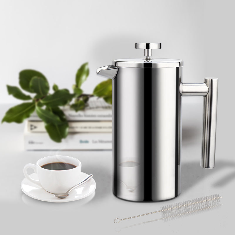 Stainless Steel French Press/Cafetière (1/2/3-Cup Size)