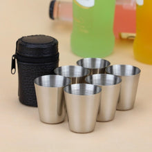 Load image into Gallery viewer, Steel Shot Glass Set with Case