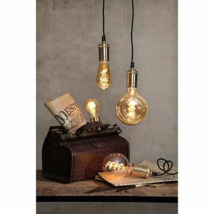 "LED  ""Spiralfilament""gold, Kolben, dimmbar 3,8 Watt 165 Lumen - LichtFactory"