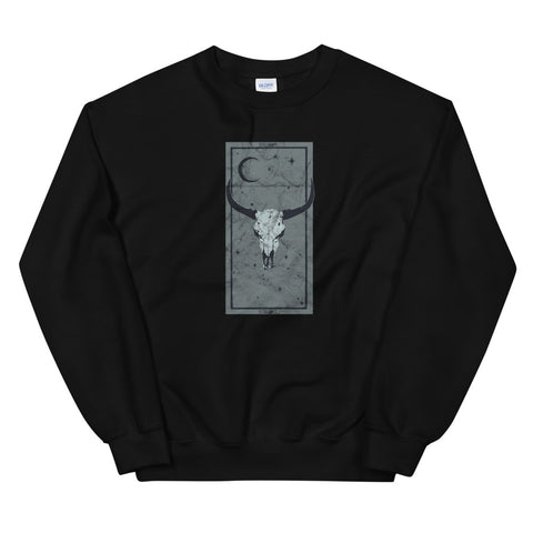 Zodiac Occult Taurus Bull Tarot Card Astrology Devil Gothic design Unisex Sweatshirt