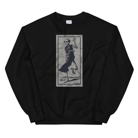 Occult The Death Tarot Card La Mort XIII Vintage design Unisex Sweatshirt