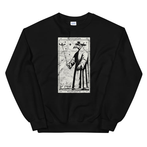 Plague Doctor Occult Black Death Tarot Card Antichrist Witch design Unisex Sweatshirt