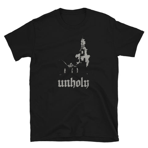 Burning Church Occult Antichrist Atheist Satan Metal design T-shirt