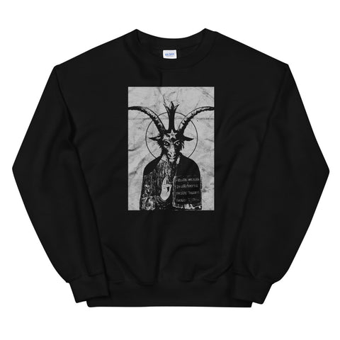 Occult Baphomet Gothic Grunge Satan Devil Black Lucifer 666 design Unisex Sweatshirt