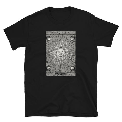 Occult The Sun Baphomet Tarot Card Witchcraft Gothic 666 T-shirt