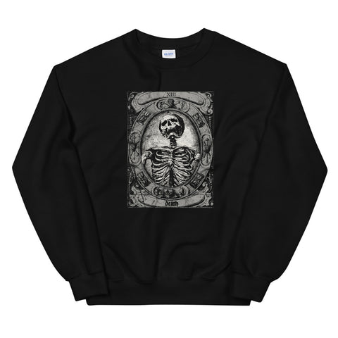 Vintage Occult The Death Tarot Card - Satan Horror design Unisex Sweatshirt