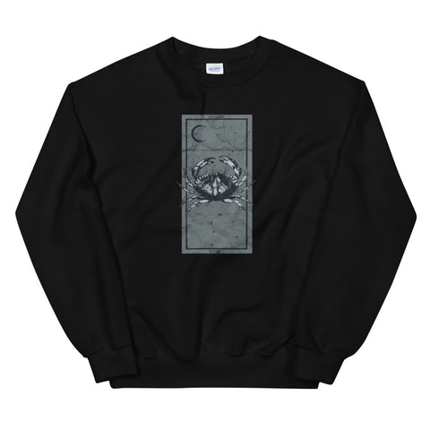 Occult Zodiac Tarot Card Cancer Satanic Astrology Gothic design Unisex Sweatshirt