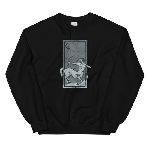Occult Zodiac Sign Sagittarius Tarot Card Astrology Gothic design Unisex Sweatshirt